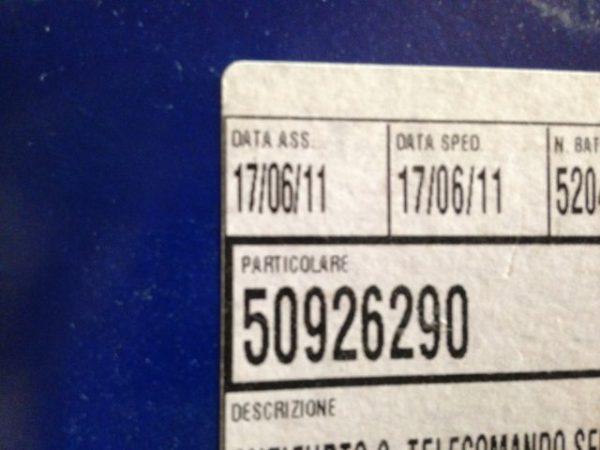 Antifurto Metasystem per Lancia Ypsilon - Codice OEM Lancia: 50926290 - Etichetta codice