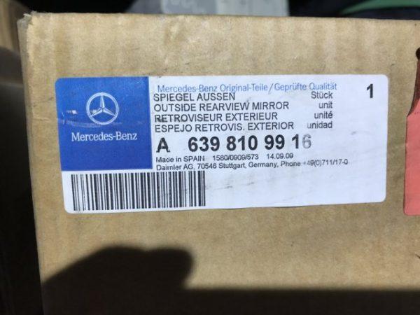 Specchio Retrovisore Destro per Mercedes Vito - Codice produttore OEM Mercedes: A6398109916