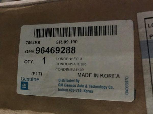 Condensatore clima per Chevrolet Kalos - Codice OEM Chevrolet: 96469288